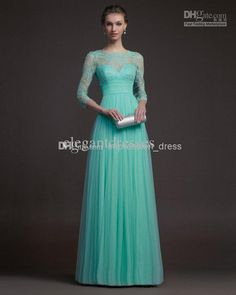 Wholesale Evening Dresses - Buy 2014 Elegant Lace Long Sleeve Evening Gowns Modest Evening Dresses with Full Length Formal Dresses, $99.69 | DHgate