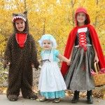 """The whole """"Red Riding Hood"""" crew: costumes and instructions from Make it & Love  it!"""