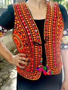 Ethnic Jackets & Shrugs Gorgeous Cotton Kutchi Work Ethnic Jacket Fabric: Cotton Sleeves: Sleeves Are Not Included Size: S- 36 in M- 38 in L- 40 in Length: Up To 22 in Type: Stitched Description: It Has 1 Piece Of Women's Ethnic Jacket Work: Kutchi Work Country of Origin: India Sizes Available: S, M, L   Catalog Rating: ★4.2 (3694)  Catalog Name: Hrishita Gorgeous Cotton Kutchi Work Ethnic Jackets Vol 6 CatalogID_129052 C74-SC1008 Code: 973-1057862-639