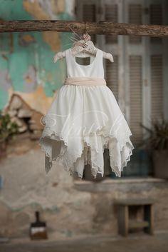 Κρεπ ασύμμετρο φόρεμα βάπτισης Vinte Li 2721 με κορδέλα, annassecret, Χειροποιητες μπομπονιερες γαμου, Χειροποιητες μπομπονιερες βαπτισης