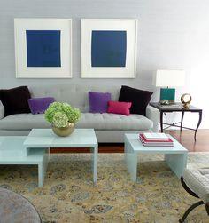 Frank Roop layers of velvet pink blue green. simple luxe feel. | velvet