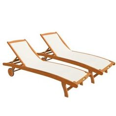Bain de soleil en bois et textilène MSPA - Transat, chaise longue
