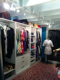 A great post on a homemade closet makeover using Ikea wardrobes and a Billy  bookcase fitted