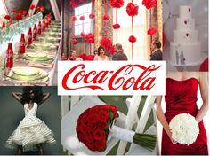 #Coca-Cola #Wedding Theme Inspiration Board