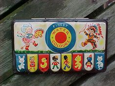 Vintage Finest Water Colors -England Cowgirl Indian