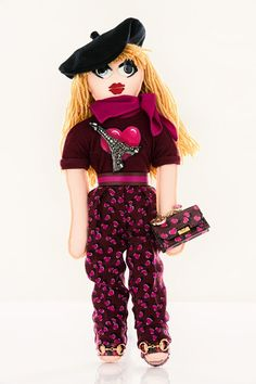 The doll designed by Gucci for UNICEF