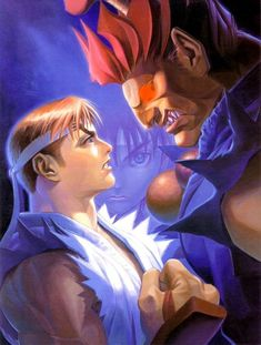 Street Fighter Alpha 2, Akuma Street Fighter, Super Street Fighter, Street Fighter Characters, Kasugano, King Of Fighters, Fighting Games, Japanese Artists, Anime