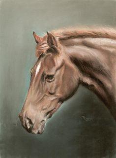 The Best Friend, soft pastel 24x30 cm