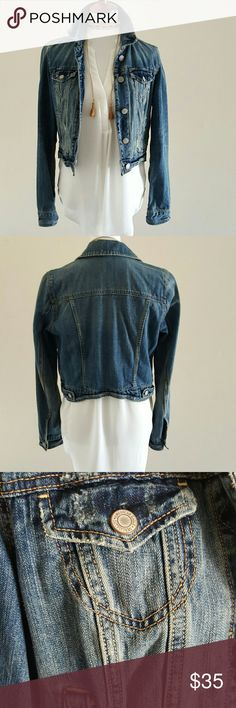 American Eagle Jean Jacket Jean jacket that can be dressed up or down and can go with just about anything. Worn only once. Like new. American Eagle Outfitters Jackets & Coats Jean Jackets