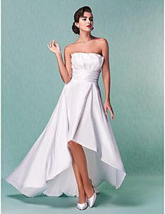 Lanting+Bride®+A-line+/+Princess+Petite+/+Plus+Sizes+Wedding+Dress+-+Classic+&+Timeless+/+Chic+&+Modern+/+Reception+Asymmetrical+Strapless+–+USD+$+285.00