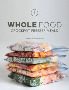 Whole Food Crockpot Freezer Meals – Whole30 recipes that can be frozen without any cooking ahead of time!