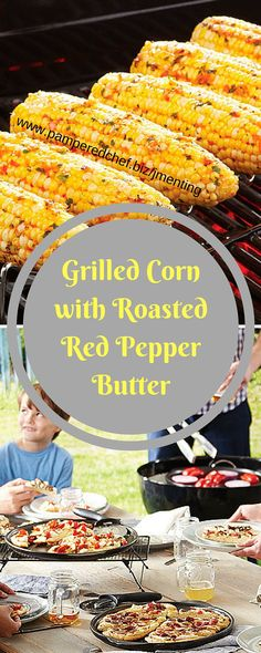 Add a little color and flavor to the butter you slather on sweet grilled corn. Finely process roasted red peppers, shallots, parsley, and salt. Then add the mixture to your melted butter. Brush the corn with half the butter and pepper mixture. Once your corn is beautifully browned on the grill, brush with the rest of the butter mixture. Voilà!  Like my Facebook page for even more recipe ideas: www.facebook.com/jennifermentingspamperedchefpage