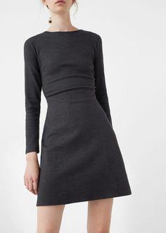 Cotton-blend dress | MANGO
