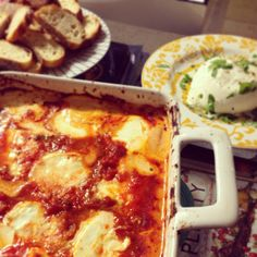 Pearls and Pasta: Baked Marinara and Goat Cheese Appetizer