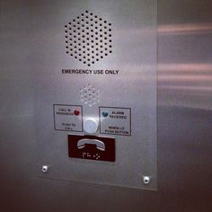 Been riding the same elevator for many years...finally noticed the sad clown.  (via #spinpicks)