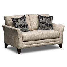 American Signature Furniture Union Square Upholstery Loveseat