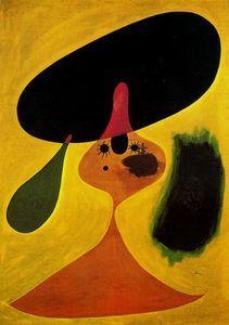 Retrato de muchacha - (Joan Miro) abstrato