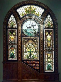 Beautiful stained glass door!