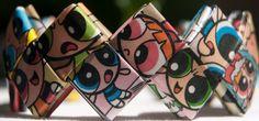 OOAK The Powerpuff Girls cuff bracelet by FantasticFoldsShop, $23.00