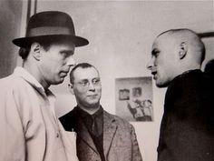 Joseph Beuys, Sigmar Polke and Palermo  at the Kunstakademie, Düsseldorf  1965 #Photography #Portrait