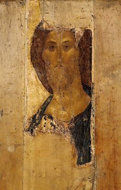 Savior - Andrei Rublev, The icon from the Deisus Chin (Row), of Assumption Cathedral on the Gorodok in Zvenigorod.