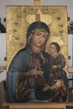 Gotycka Matka Boska Czaniecka odkrywa swą mistyczną głębię – Diecezja Renaissance Kunst, Madonna, Mona Lisa, Gothic, Artwork, Painting, Google, Byzantine Art, Goth