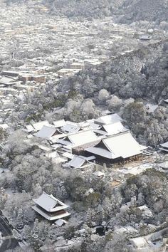 Kyoto in snow, Japan