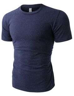 This casual short sleeve crewneck poly-cotton t-shirt is an all-time favorite. This t-shirt features an incredible soft poly-cotton blend in a slim fit body. This basic t-shirt is a wardrobe staple th