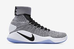 Nike Hyperdunk 2016 Flyknit Men's Basketball Shoe: Black/White