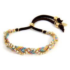 Ettika :: Bracelets :: Friendship :: BFF Multi Pastel on Gold Crystal Friendship Bracelet
