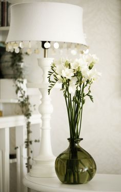 Stojan na lampu 62 cm - bílý