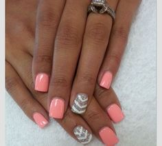 Nails pink and gray !!