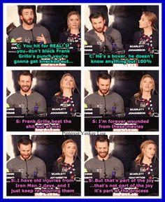 Chris Evans and Scarlett Johansson