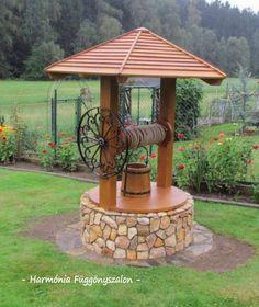 That's a good spot to clean your feet in the back area! Outdoor Projects, Garden Projects, Backyard Patio, Backyard Landscaping, Wishing Well Garden, Garden Deco, Garden Fountains, Garden Planters, Outdoor Gardens