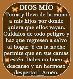 Oración por los hijos.
