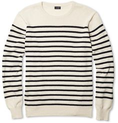 I've always wanted one like this - J.Crew Ustica Striped Cotton Sweater