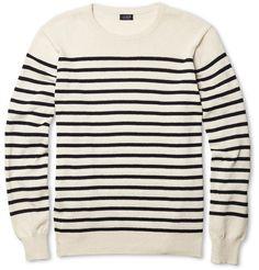 J.Crew Ustica Striped Cotton Sweater | MR PORTER