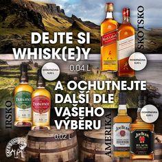 Speciální akce v Cafe Bulldog  Dejte si Whisk(e)y a vyberte si další ochutnávku dle svého výběru 0,02 L. Pro tuto speciální akci máme připravené tyto vybrané lahve. Akce je časově omezená. Ke každé vybrané lahvi Whisk(e)y je pouze jedna lahev pro ochutnávku. Jim Beam, Corona Beer, Guinness, Whisky, Bourbon, Beer Bottle, Gin, Drinks, Food
