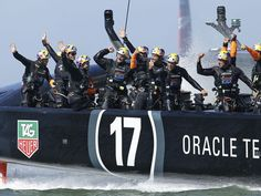 Oracle Team USA pulls of a stunning victory...Ellison!