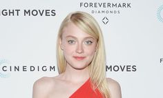 Dakota Fanning Can Work a One-Shoulder Red Jumpsuit
