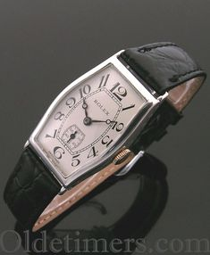 199b4424ad7 1920s silver tonneau vintage Rolex watch - Olde Timers Best Watches For  Men