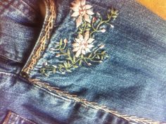 embroidered jeans - Google Search