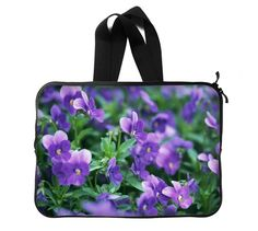 Colorful Beautiful Charming Fantasy Unique Art Cute Flower Blossom Violet Matthiola Incana Laptop Sleeve Laptop Bag 14Two Sides