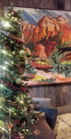It's looking a lot like Christmas! #lauberge #christmas #holiday #sedonaaz #redrocks
