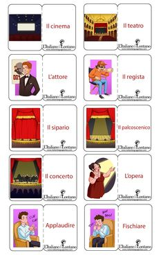 Alcune parole relative al mondo dello spettacolo. #learnitalian #italianlanguage #italianonline