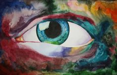 Big eye painting Expressive art All seeing eye by ArtbyLafimron