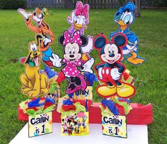 Cute Mickey Mouse Clubhouse centerpieces (not DIY)