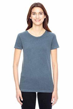 Alternative Womens Vintage Garment Dyed Cotton Distressed T-Shirt