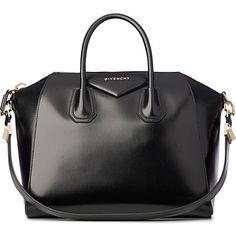 GIVENCHY Antigona medium smooth leather tote (Black
