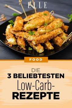 Die 3 beliebtesten Low-Carb-Rezepte: Lecker essen ohne Kohlenhydrate #lowcarb #kohlenhydrate #ernährung #abnehmen #elle Low Carb Bun, Mary Recipe, Chicken Wings, Low Carb Recipes, Green Beans, Easy Meals, Health Fitness, Keto, Snacks